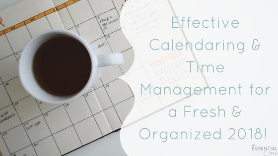 Effective Calendar & Time Management: 2018