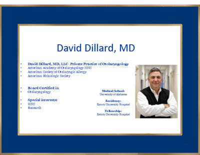 Synergy of Sleep Surgery and Cardiovascular, David Dillard, MD