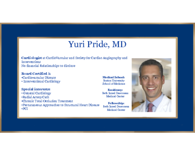 Updates in Interventional Cardiology – Yuri Pride, MD