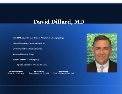 Synergy of Sleep Surgery and Cardiovascular, Dr. David Dillard