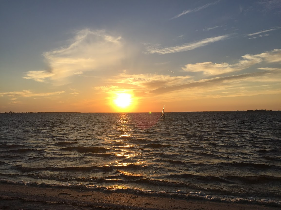 A picture of the sunset