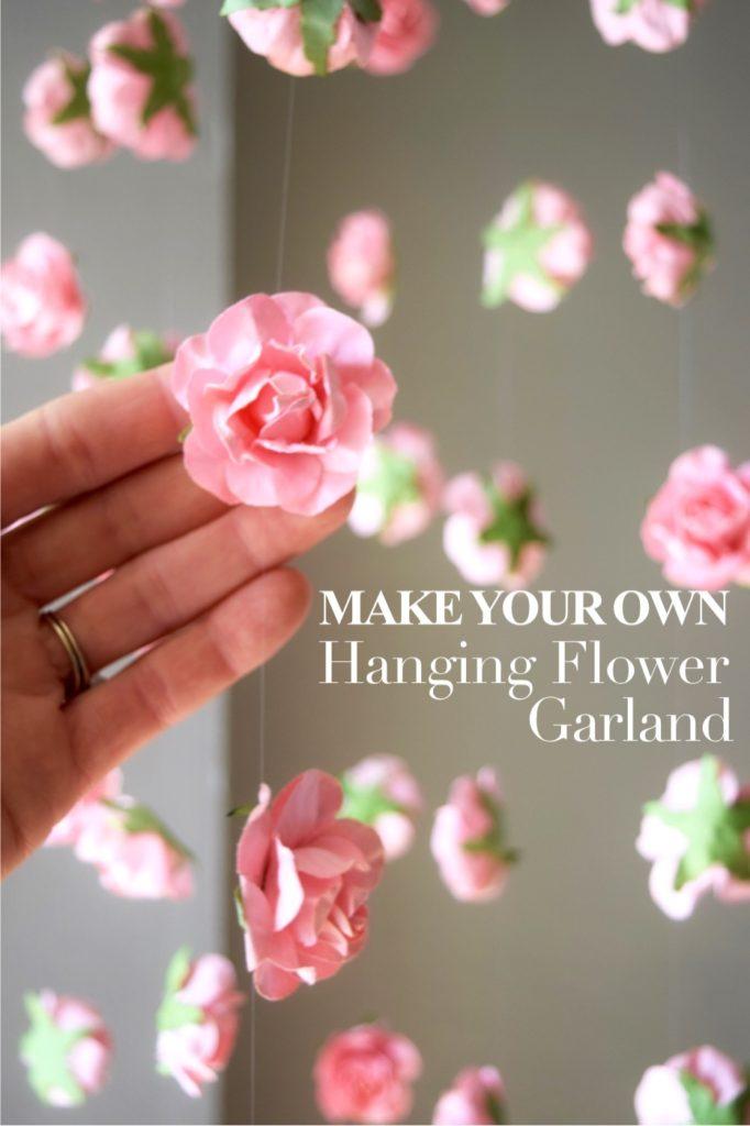 hanging flower garland