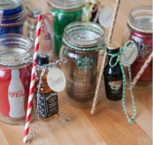 diy mason jar cocktail sets