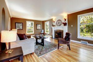 Joyce Heritage Windows in Brown Living Room