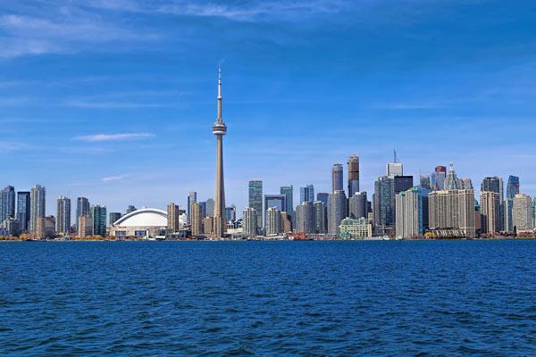Toronto skyline Ontario lake Harbor