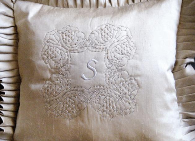 modern heirloom pillow