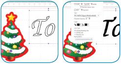 Scanncut Christmas Gift Tag - Step 3B