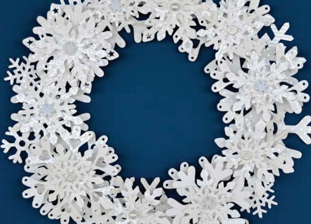 brother snowflake wreath