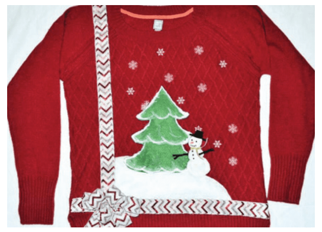 over the top holiday sweater