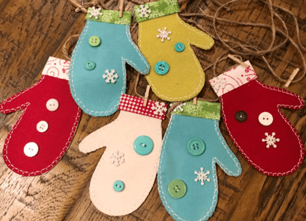 sewing project: winter garlands