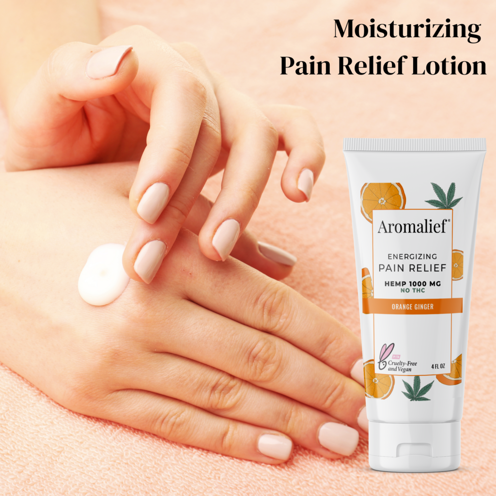Aromalief Orange Ginger Pain Relief Moisturizing Lotion