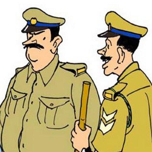 सुखपुरा में पुलिस की दबंगई