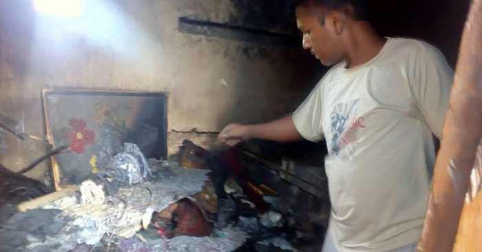 आकाशीय बिजली से कुसौरी में दो परिवारों की भारी क्षति
