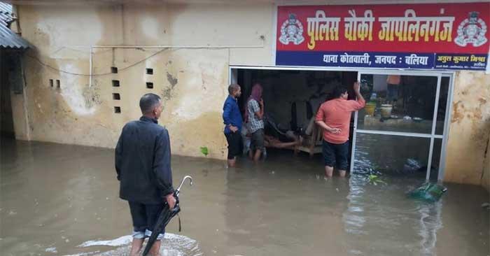 जलजमाव से बलिया नगरपालिका की खुली कलई, पूर्वांचल के कई जिलों भारी बारिश