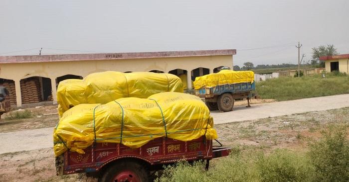 किसान गेहूं क्रय केंद्र पर गेहूं लेकर भटक रहे, कर्मचारी 3 दिन से गैरहाजिर