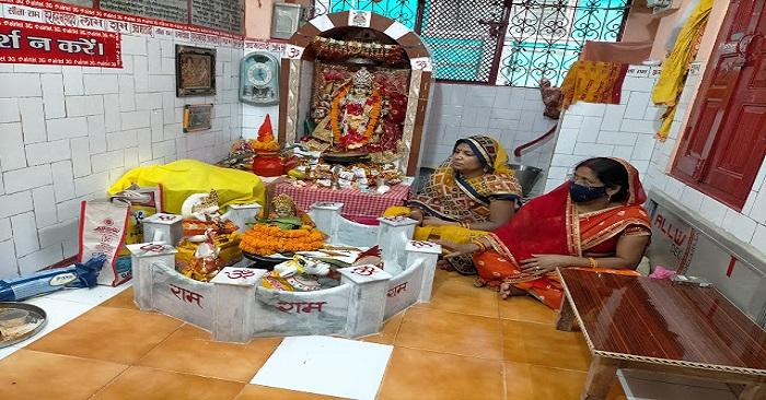 कोरोना की वजह से आदि शक्ति दुर्गा धाम के वार्षिकोत्सव में सिर्फ 3 लोग शामिल हुए