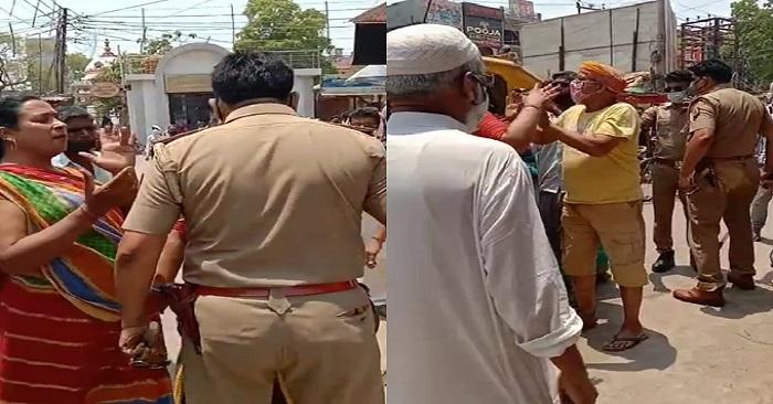 बलिया-लॉकडाउन में पुलिस ने किन्नरों को रोका तो कर दिया भारी हंगामा