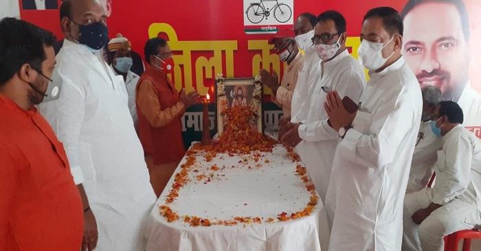 समाजवादी पार्टी ने मनाई परशुराम जयंती- 'सरकार बनने पर फिर घोषित करेंगे अवकाश'