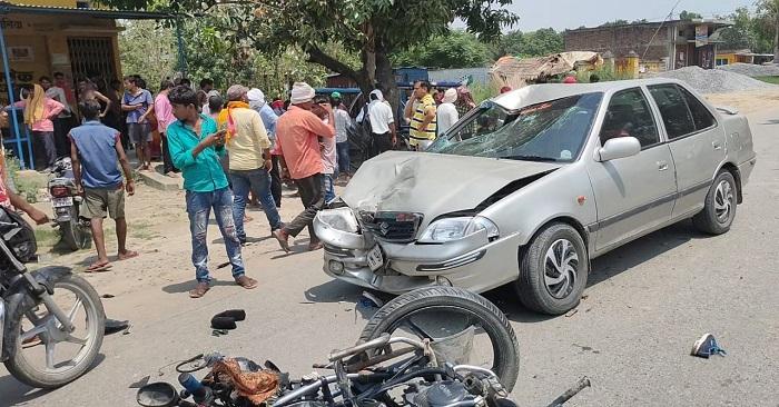 दो सड़क दुर्घटनाओं में 6 लोग घायल, गम्भीर रूप से घायल तीन सदर अस्पताल रेफर