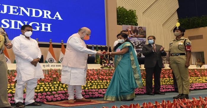 बलिया के शहीद विजेंद्र बहादुर सिंह को पुलिस पदक दिया गया