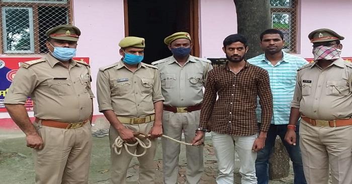 अपहरण और बलात्कार के आरोपी इनामी बदमाश आशीष को पुलिस ने गिरफ्तार किया