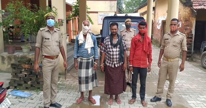 सहतवार पुलिस ने पशु तस्करों से 13 गोवंश को बचाया, 3 आरोपी गिरफ्तार