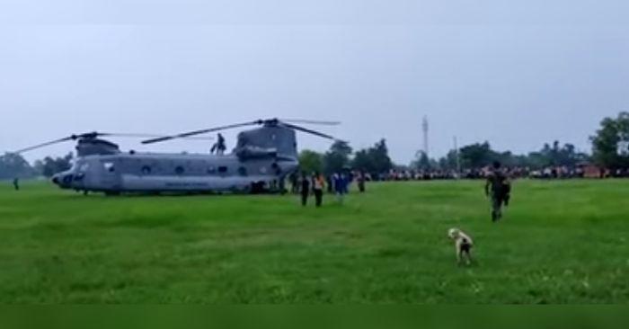 वायुसेना के हेलीकॉप्टर की इमरजेंसी लैंडिंग, बड़ा हादसा होने से टला