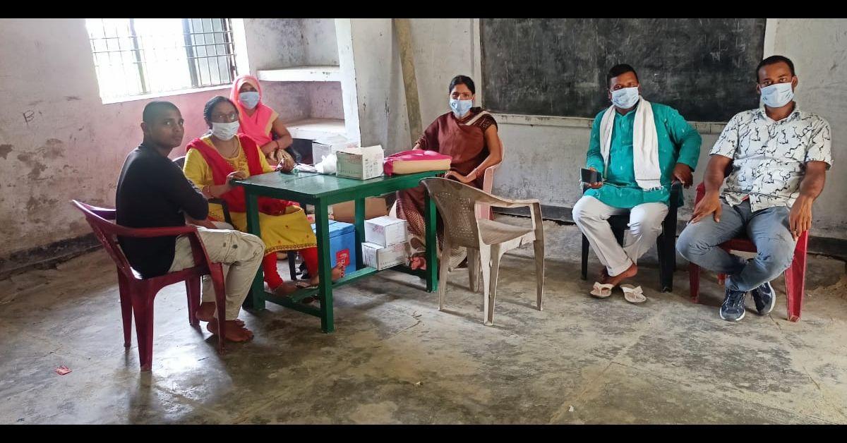 ग्राम पंचायत कुशहा भाड़ के प्राथमिक स्कूल में 380 लोगों को लगी वैक्सीन