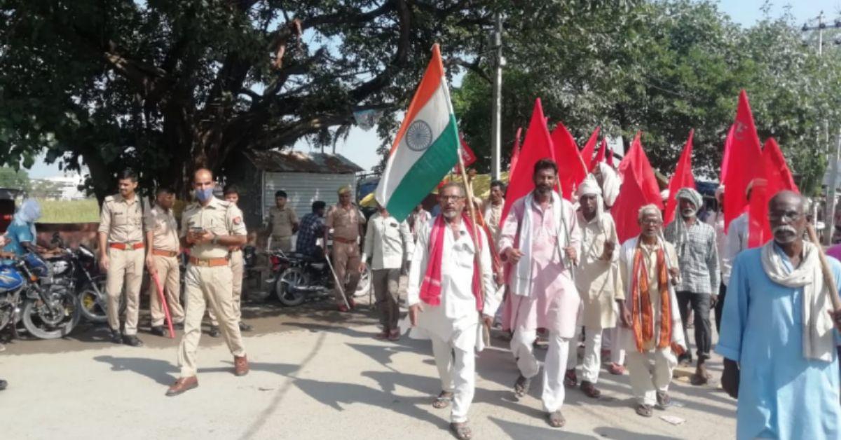 संयुक्त किसान मोर्चा के आवाह्न पर भारत बन्द का मिला जुला असर