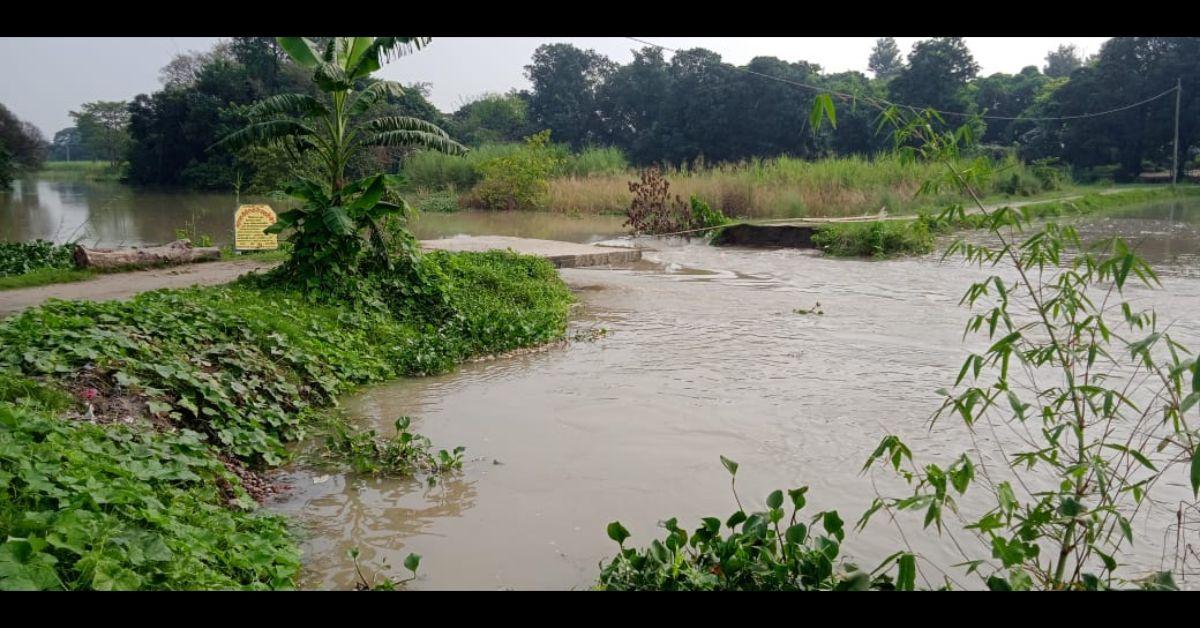 घाघरा नदी का जलस्तर ख़तरे के निशान से ऊपर