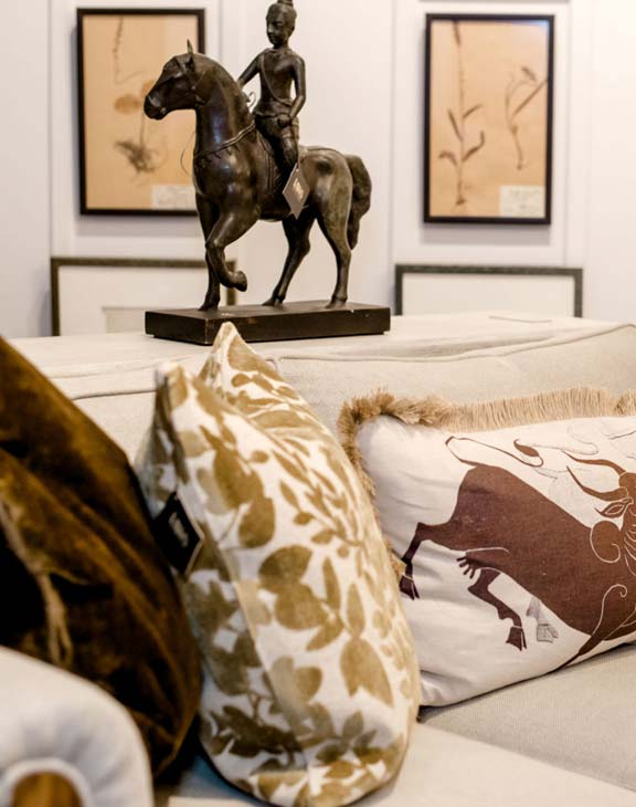 Laws Interiors Furnishings - Couch Art Pillows