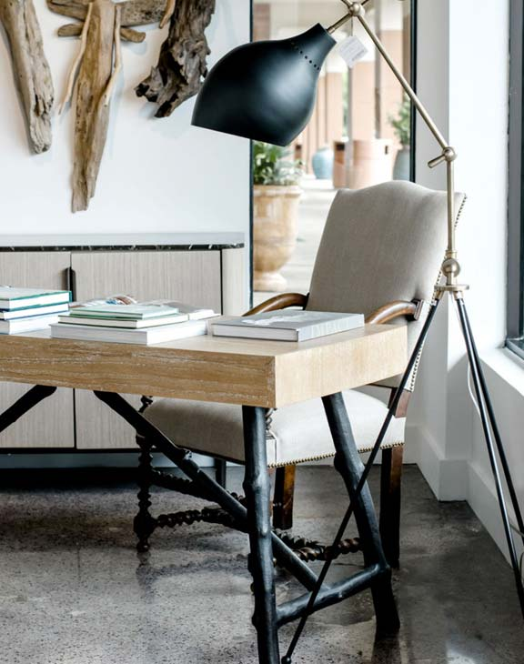 Laws Interiors Furnishing and Retail - Lamp and Desk