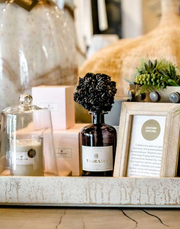 Laws Interiors Retail Thucassi — Scents, Candles, and Diffusers