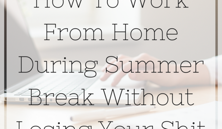 How to Work from Home During Summer Break Without Losing Your Sh*t