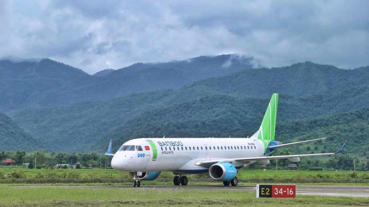 Vietnam's Bamboo Airways Expanding Domestic Network Using Embraer RJs Starting With Dien Bien Phu