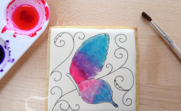 cooking canvas cookie painting