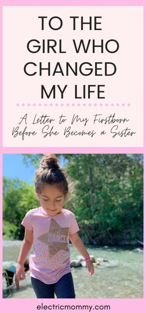 I never knew how much a person could change your life until I gave birth to my daughter. I will miss our time we had together but know that she will be the best big sister.   Open Letter to Daughter   Motherhood   Becoming a Big Sister   Preparing Toddler for Baby   Letter to Daughter #motherhood #girlmom #parenting #newbaby #bigsister #momlife #openletter