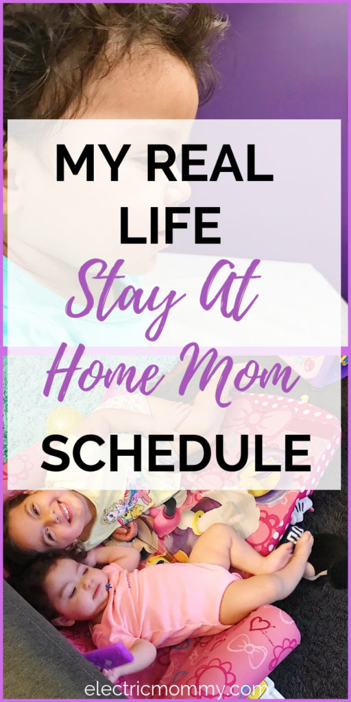 Being a SAHM is one of the hardest jobs but I've learned that having somewhat of a schedule helps make the day go more smooth. Here's a peek into our day. | Becoming a Stay at Home Mom | Advice for Stay at Home Moms | Stay at Home Mom Routine #sahm #motherhood #momlife #momminainteasy