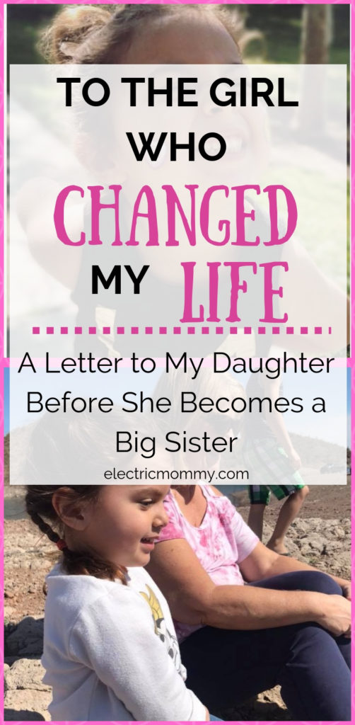I never knew how much a person could change your life until I gave birth to my daughter. I will miss our time we had together but know that she will be the best big sister.   Open Letter to Daughter   Motherhood   Becoming a Big Sister   Preparing Toddler for Baby   Letter to Daughter #motherhood #girlmom #parenting #newbaby #bigsister