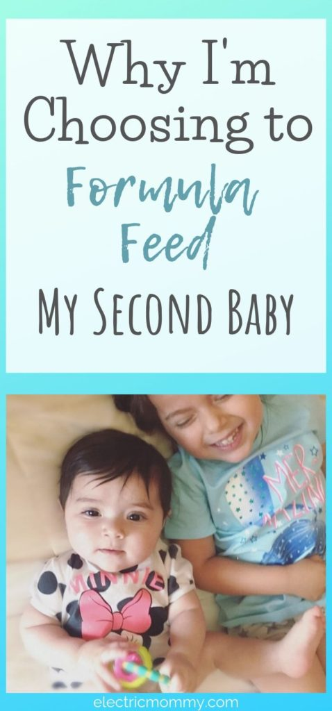 Deciding whether or not to breastfeed your child is not an easy decision. I decided not to breastfeed my second daughter. It was the right thing for me and my family and here's why! | Are Formula Fed Babies Healthy? | Formula vs Breastfeeding #formulafeeding #newbornbaby #breastfeeding #pregnancy #fedisbest #baby #newborn #feedingschedule