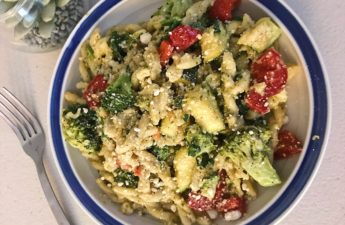 Lemon Veggie Pasta with Parmesan Cheese, Vegetarian Dinner, Lemon Broccoli, Healthy Dinner Recipes