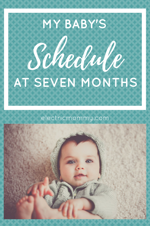 My Baby's Schedule at Seven Months - the first few months were hard! Our little one has a mind of her own but we have finally settled into somewhat of a routine. | Good Schedule for a Newborn | Average Newborn Sleep | Baby Daily Routine | Baby Daily Schedule #newborn #babysleepschedule #babyroutines #infant