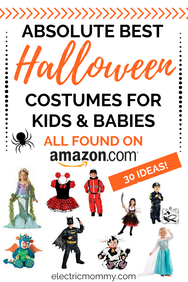 I like to make things easy and that means a lot of Amazon shopping! I was searching for costumes for my girls and decided to put together a list as I did my research to help you out as well. Here are 30 of the best Halloween costumes for kids on Amazon.   Best Halloween Costumes for Kids   Baby Costumes   Toddler Costumes   Cute Halloween Costumes   Disney Costumes #halloween #halloweencostumes #costumeideas #disneycostumes
