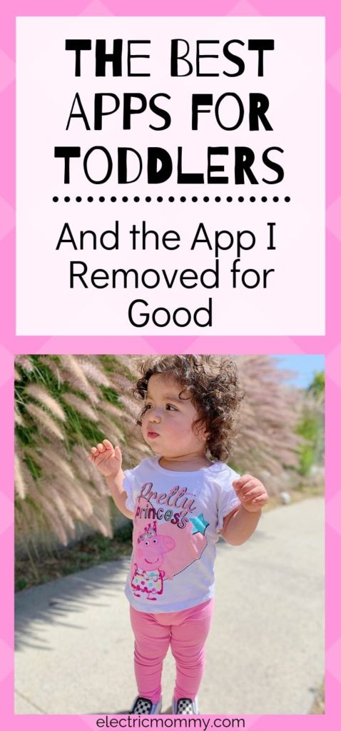 Screen time. Two words we all have to think about as parents today. Not only do we have to decide how much is okay for our kids but also, what apps we are okay with them using. Here is my experience with an app I removed for good and five other apps that we both love instead. | Screen Time for Kids | Best Educational Apps for Kids | Screen Time for Toddlers | Screen Time for Babies | Best Educational Apps for Toddlers | Best Educational Apps for Preschoolers | Screen Time Rules #screentime #bestappsforkids #bestappsfortoddlers #besteducationalapps #momlife #sahm #momproblems #screentimerules