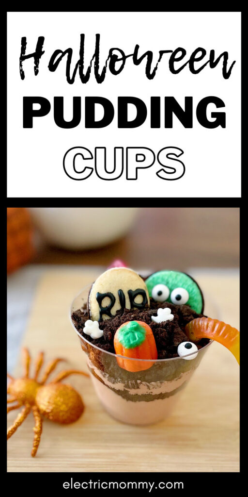 Dirt Pudding Cups   Oreo Dirt Cups   Halloween Dirt Cups   Graveyard Pudding Cups #halloweentreats #diyhalloween #halloweencraftsforkids #puddingcups #puddingrecipe