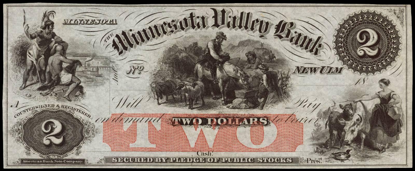 $2 Minnesota Valley Bank