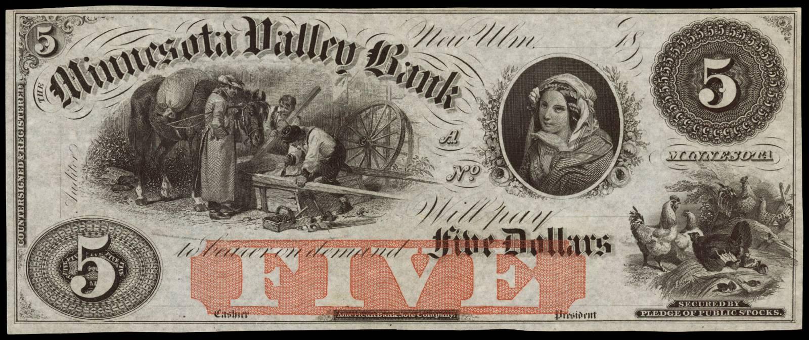 $5 Minnesota Valley Bank
