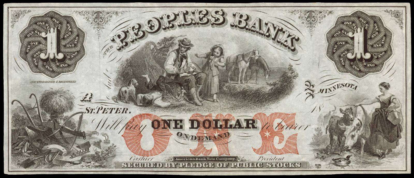 $1 Peoples Bank