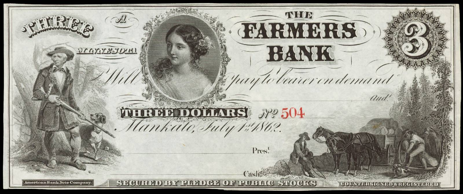 $3 Farmers Bank of Mankato