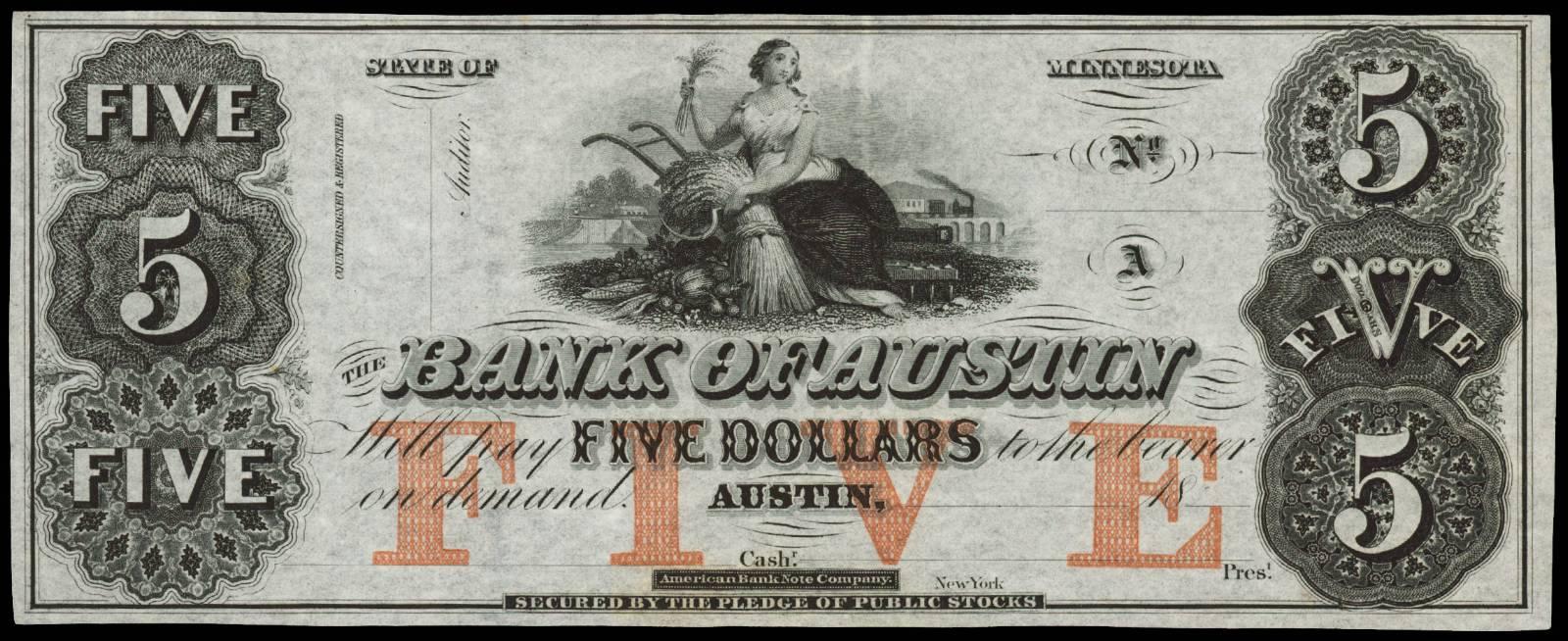 $5 Bank of Austin